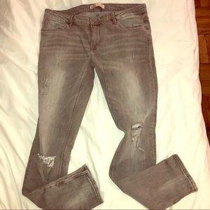 Zara Skinny Zip ankle jeans